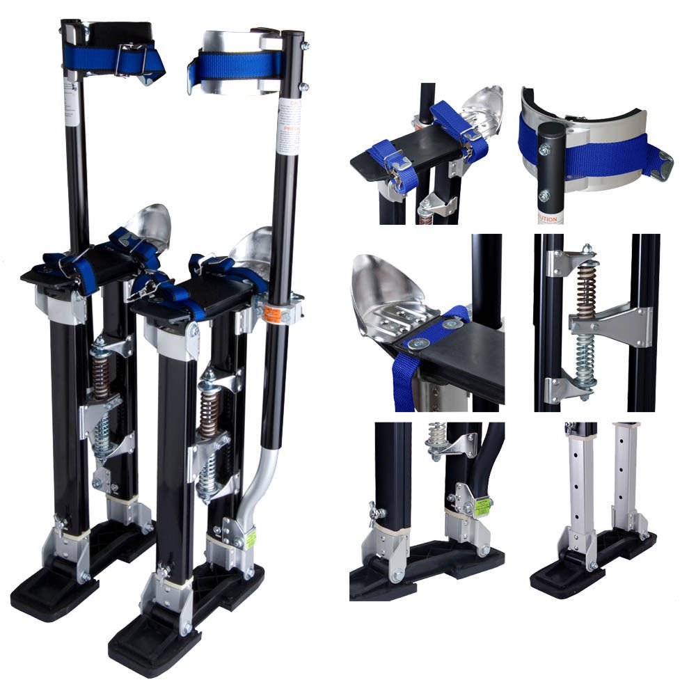 24-40 Inch Drywall Stilts Adjustable Aluminum Stilt Walking Painting Dura Taping Painter Tools by FrankMind (Image #4)