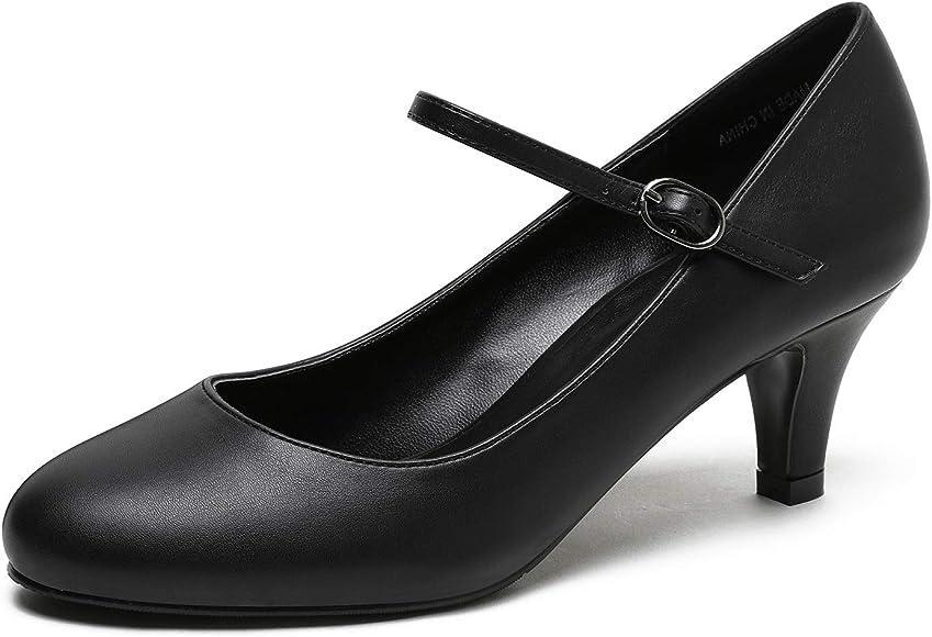 Women's Mary Jane Low Kitten Heel Pumps