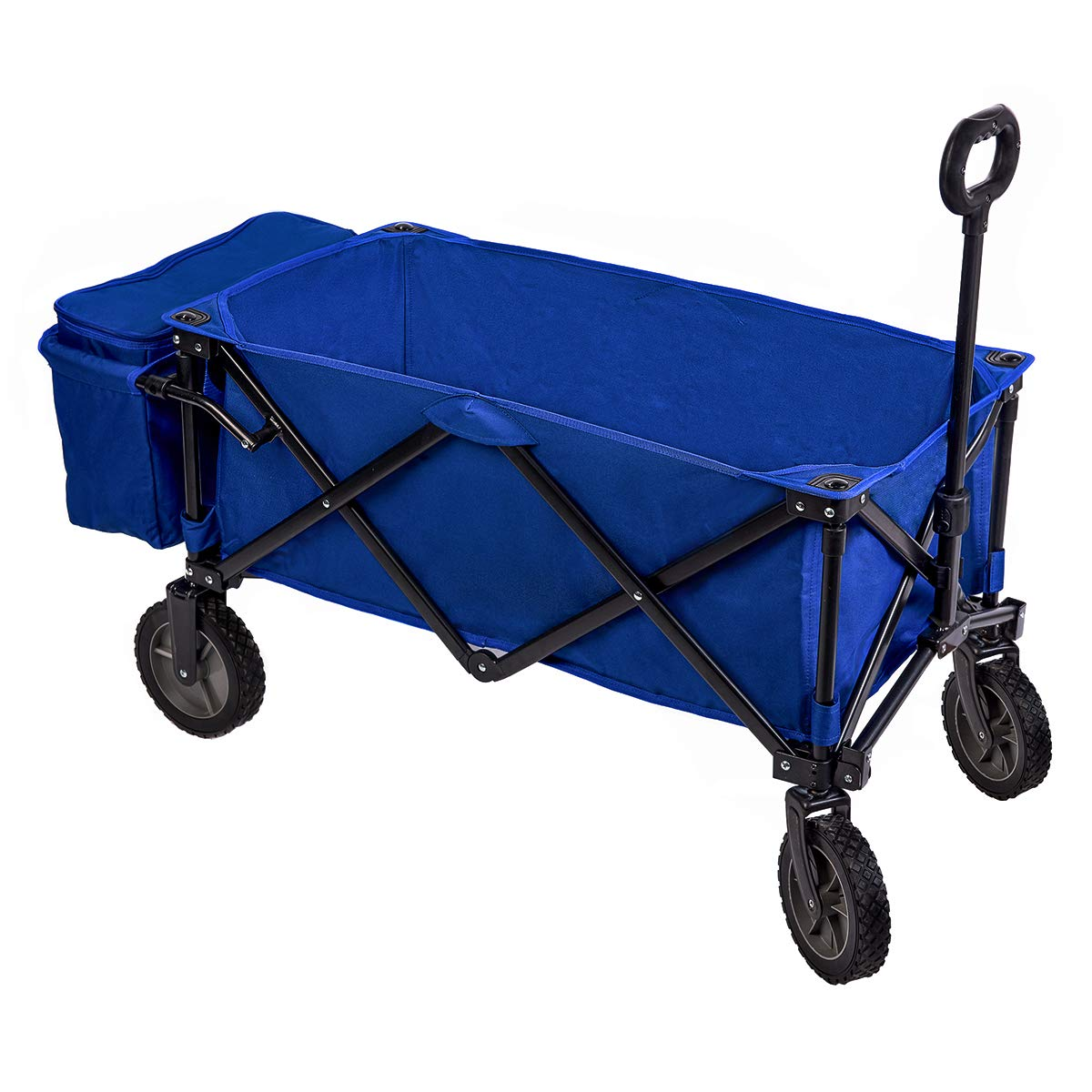Timber Ridge Collapsible Beach Wagon Folding Camping Utility Cart Cooler Ice Bag Outdoor Supports up to 150lbs, Blue TRTR217271BECL