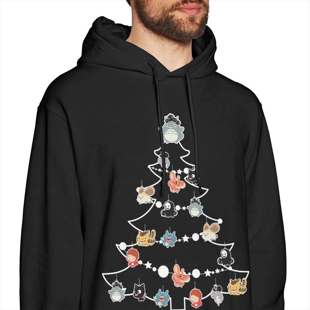 Dragon Ball Z Weihnachtskranz Muster Herren Pullover Hoodies Rundhals-Sweatshirt mit Rundhalsausschnitt Schwarz Xxx-large|style3