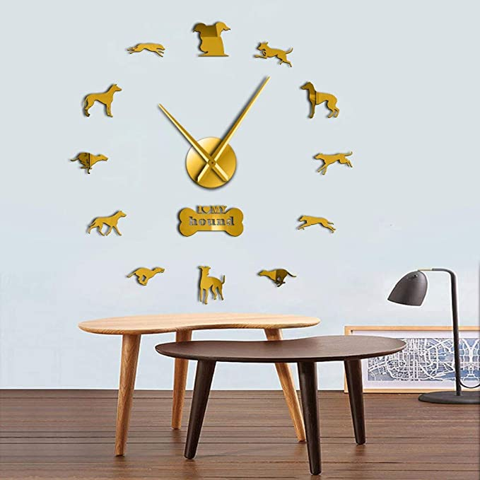 Amazon.com: LLLYZZ Greyhound Adopción Perro Pared Arte DIY Gigante Reloj De Pared Greyhound Casa Decoración De Perro, Perro Raza Exclusivo Reloj De Pared De ...