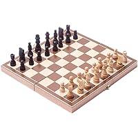 Toyvian El Juego de ajedrez magnético de Madera Plegable con Bolsas de Almacenamiento Lindo portátil para facilitar su…