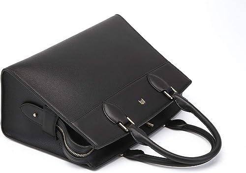 PJN Brand Grain Genuine Leather Bag for men 2020 Fashion LS70611BLACK