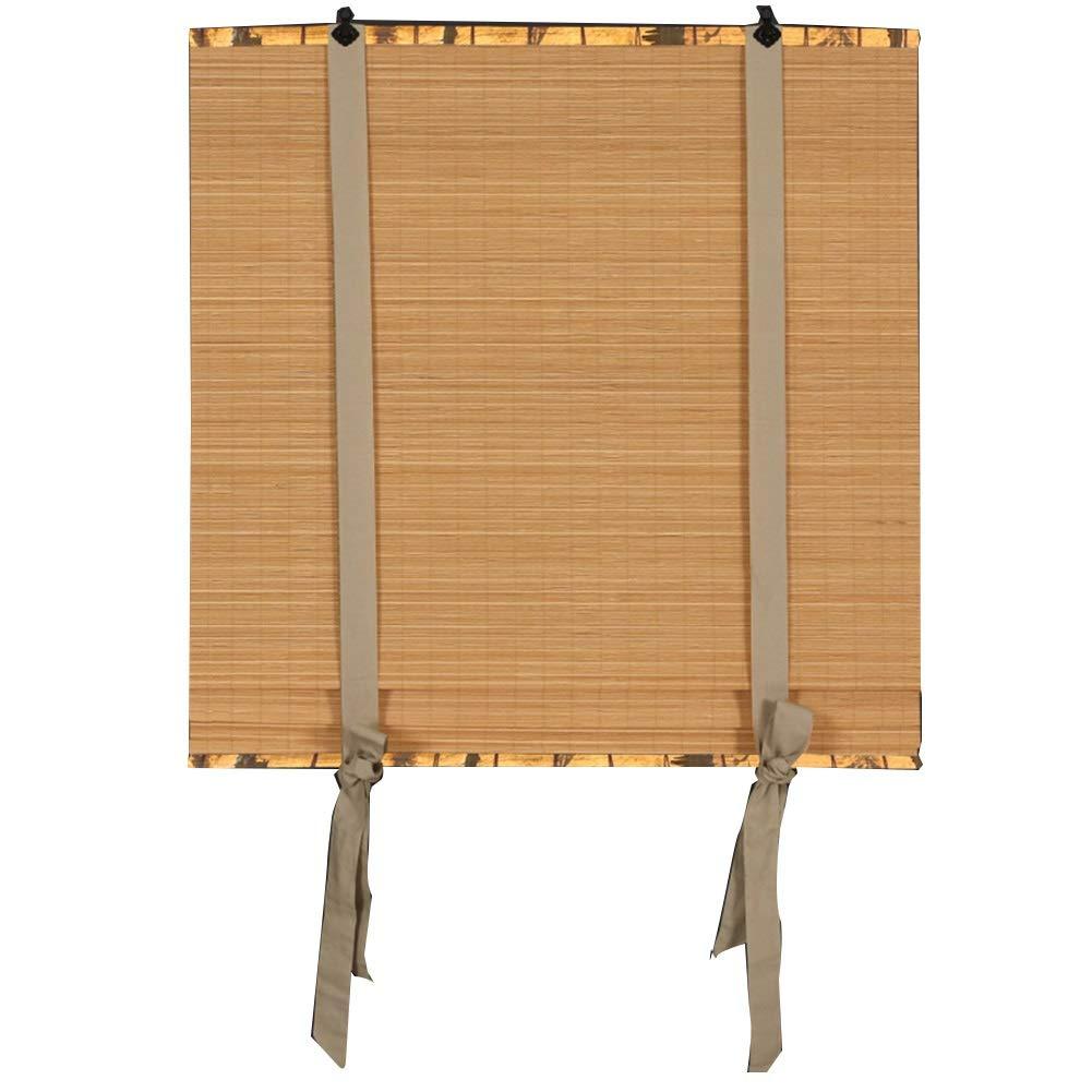 LIANGJUN 竹ロールスクリーン竹はウィンドウシェードを竹すだれ竹製カーテン織り カバーライト リボン風 中華風 耐摩耗性 バルコニー カスタマイズ可能 (色 : C, サイズ さいず : 150X300CM) 150X300CM C B07QDH8L1Y