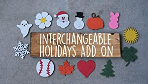 bawansign Interchangeable Home Sign Extra Holidays