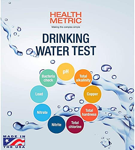 Health Metric Drinking Water Test Kit For Home Tap And Well Water