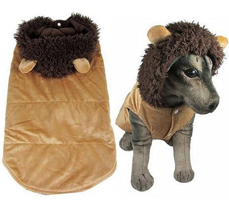 Ranphy Ropa para cachorro para perros medianos de pijamas perro león disfraz abrigo de invierno con