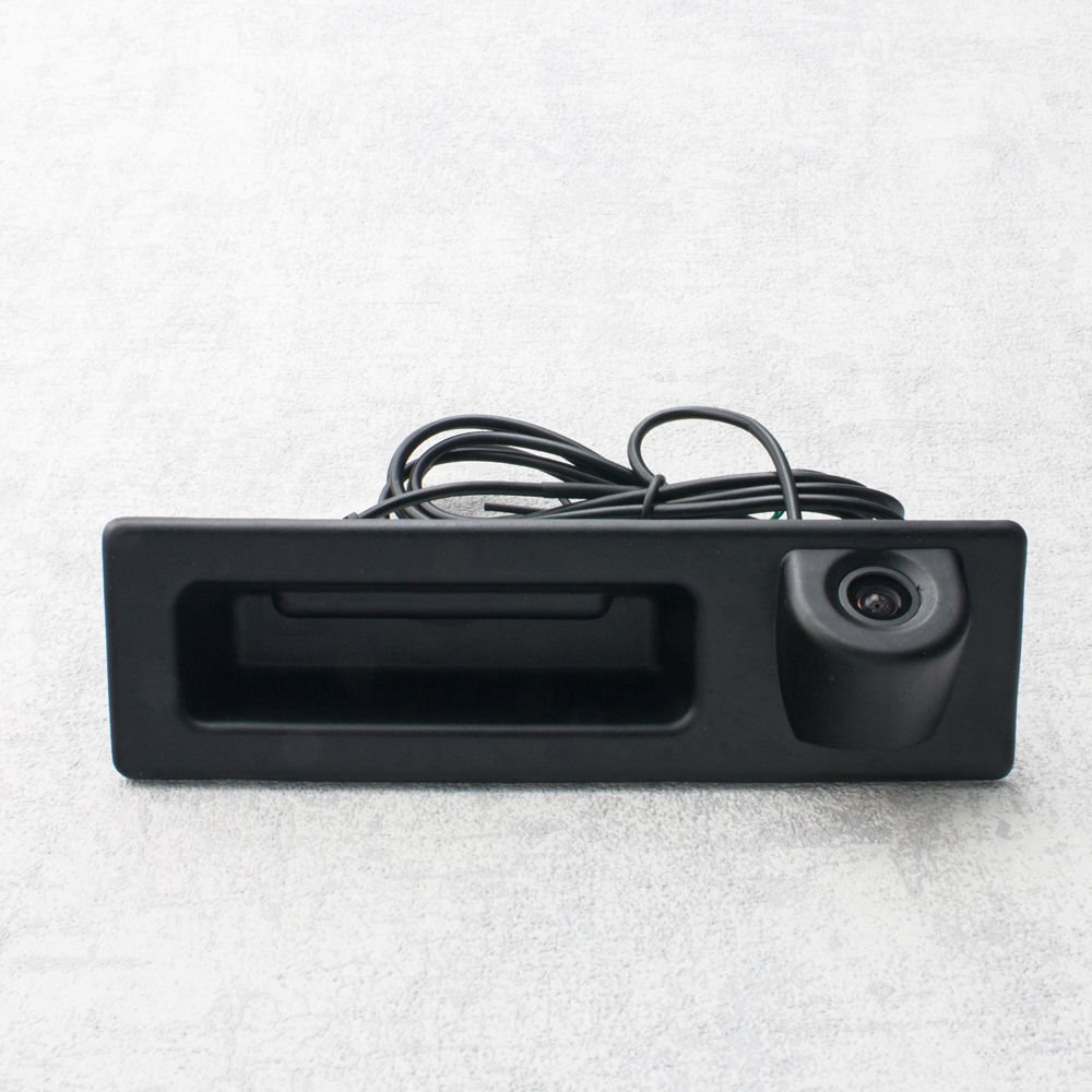 Misayaee Vehicle Rear View Back Up Reverse Parking Camera in Tailgate Truck Handle (NTSC) for BMW X1 X3 X4 X5 F30 F31 F34 F07 F10 F11 F25 F26 E84 E39 E82 E88 E84 E90 E91 E92 E93 E60 E61 E70 E71 E72 (Model B =162 x 48 mm)