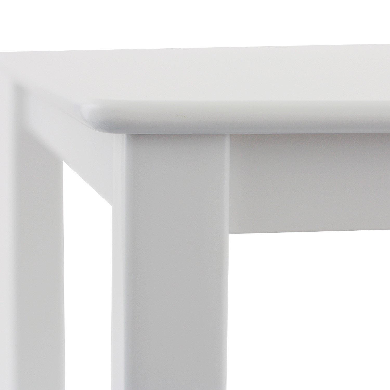 White Max /& Lily Natural Wood Kid and Toddler Square Table
