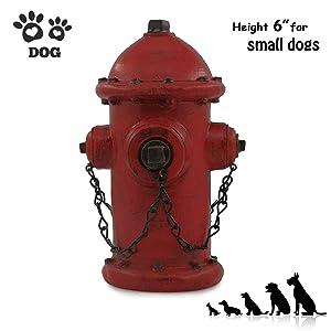 "ornerx Resin Fire Hydrant Statue Decor 6"" Tall - Small"