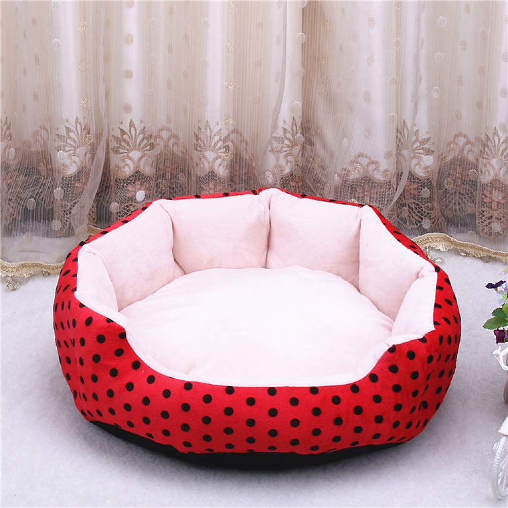 red S Dog Cat bed soft milk cow cushion pet dog house blanket bed Tiger Lines removable small medium dogs