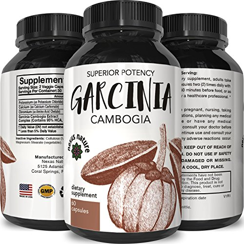 95% HCA Garcinia Cambogia Extract – Premium Appetite Suppressant – Ultra fat Burner + Blocker Pills for Men + Women – Best Results + Reviews – Slim + Burn Supplement for Weight Loss