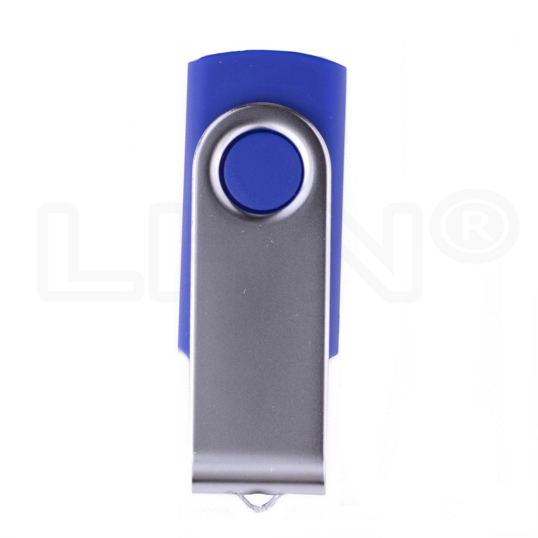 LHN® 8GB Swivel USB Flash Drive USB 2.0 Memory Stick (Blue) by LHN (Image #3)
