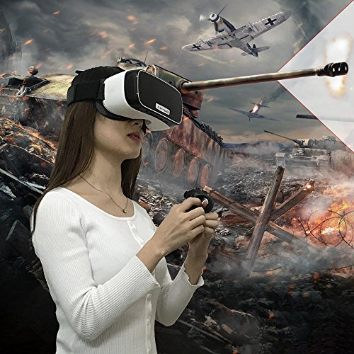 """VR Headset, DMYCO VR All in One Headset Virtual Reality Headset WIFI 2.4G VR Glasses for PS XBOX PC Games Movies HDMI 2560*1440 HD 5.5"""" Screen Android 5.1 Quad-core 2G/16G (Phone No Needed)"""