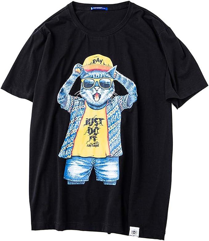 nihiug Novedad Camisetas para Hombre Verano Camiseta Impresa ...