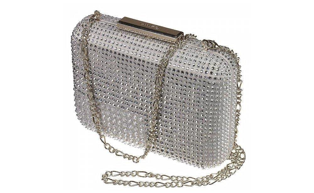 PINKO Bag TOLEDO CLUTCH STRASS CON TRACOLLA (Silver)  Amazon.it   Abbigliamento 4dd478da145