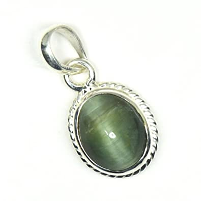 Buy Certified Natural 5 25 Ratti Cat's Eye Silver Pendant