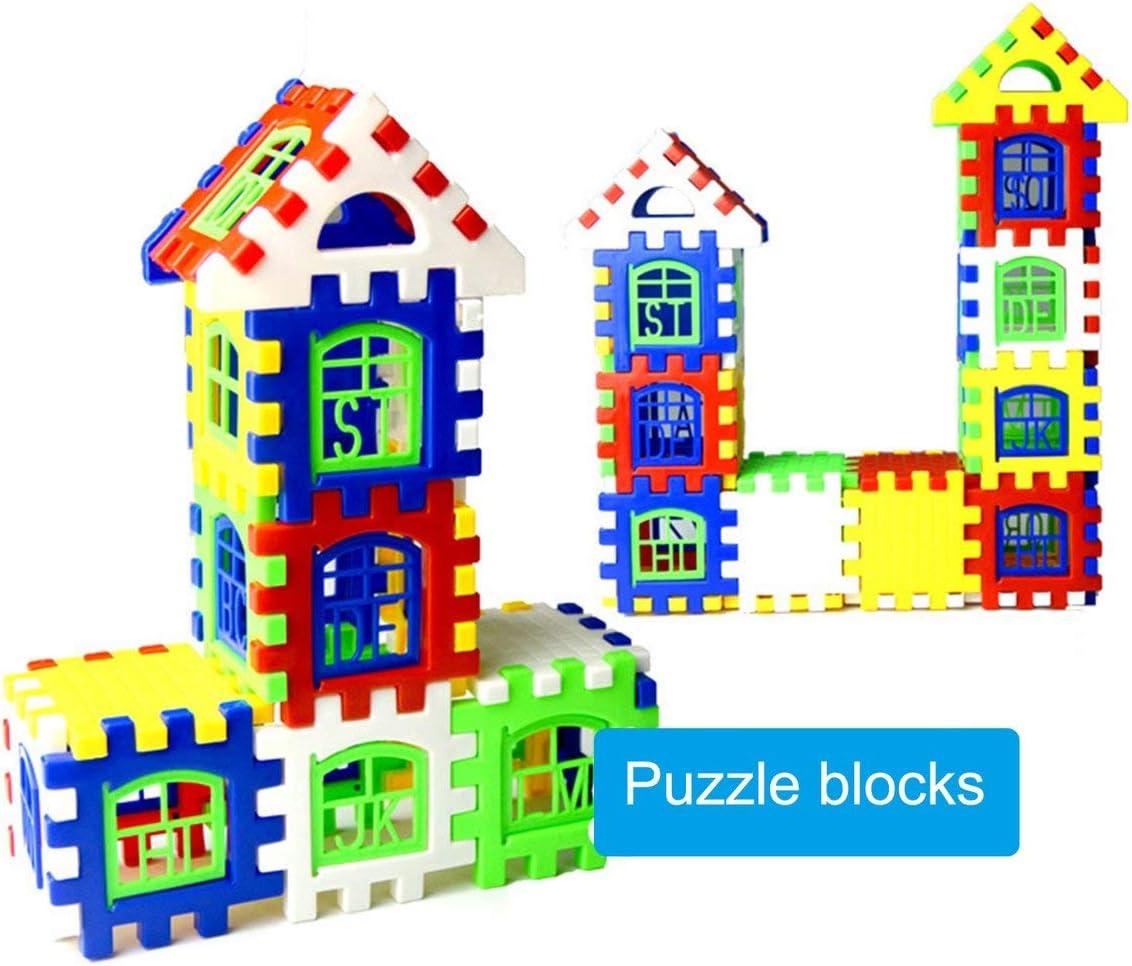 Tivolii 24pcs//lot Interlocking Building Blocks Plastic House Blocks DIY Playset Toy for Children Enlightenment Educational Toy