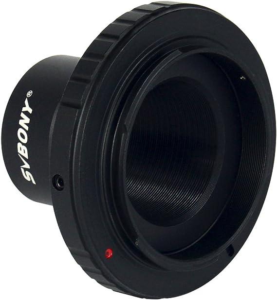 svbony T-Mount Adaptador con Anillo T2 para Nikon DSLR/SLR Lente ...