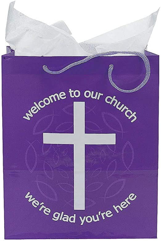 set of 12 Sunday School and Religious Supplies Welcome To Our Church for Kids Gift Bag