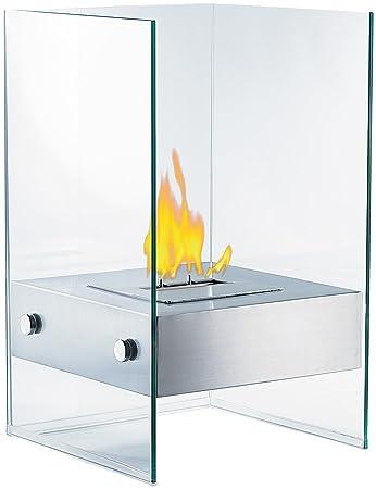 Carlo Milano Dekofeuer: Bio Ethanol Deko Feuer Im Glaswürfel Look  (Bioethanol