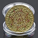 Buildent - Coin Gold Silver Plated Mayan Aztec Prophecy Calendar Commemorative Coin Art Collection Gift