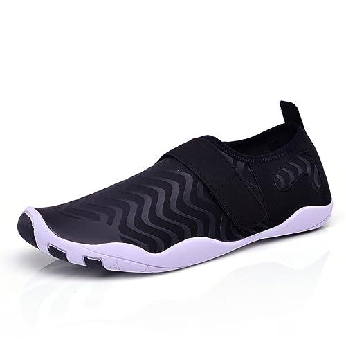 5eca2073be27cd Gracosy Chaussures Aquatiques Hommes Femmes Enfants, Chaussures de Plage  Été Sports à Scratch Chaussons Extérieurs