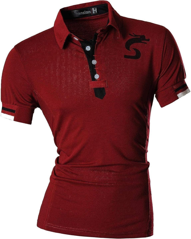 f36880eef1 Battercake Camisa De Polo para Hombre Corta Manga Solapa Casual Polo  Camisetas Camisa Cómodo De Polo ...
