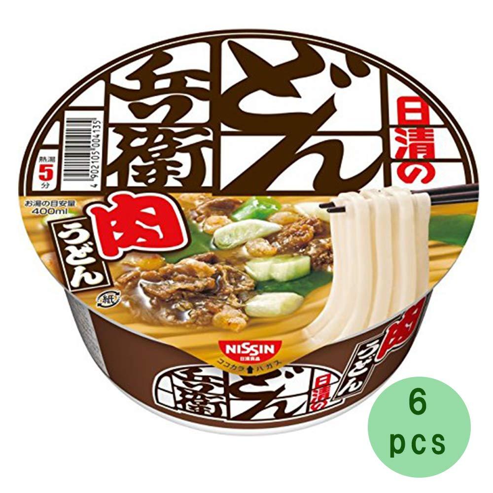Donbei Meat Udon 3.1oz 6pcs Japanese Instant Noodle Cup Udon Nissinn Ninjapo by Ninjapo