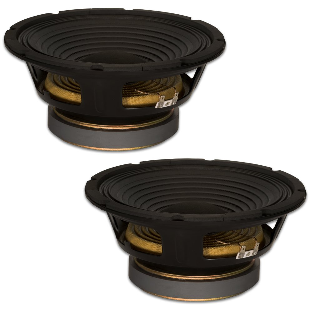 Goldwood Sound, Inc. Stage Subwoofer, Pro 10 Woofers 50oz Magnets 280 Watts Each Replacement 2 Speaker Set (GW-1058-2)