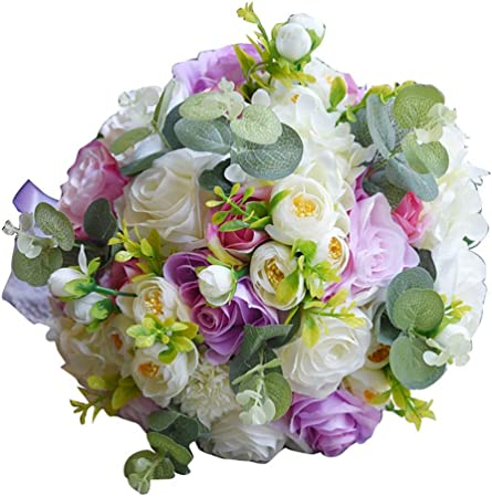 Il Mazzo Di Fiori Piu Bello Del Mondo.Zhongsufei Bouquet Di Fiori Di Seta Bouquet Da Sposa Mazzo Di San