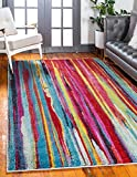 Unique Loom Lyon Collection Modern Abstract Multi Area Rug (5′ x 8′) Review