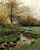 AUTUMN LEAVES by Peder Monsted trees birds stream Tile Mural Kitchen Bathroom Wall Backsplash Behind Stove Range Sink Splashback 4x5 4.25'' Ceramic, Glossy