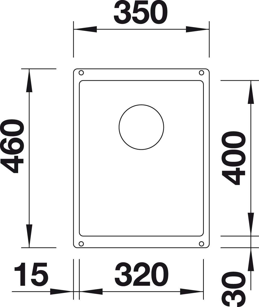 Blanco Subline 320-U 523/406//Évier de cuisine Anthracite