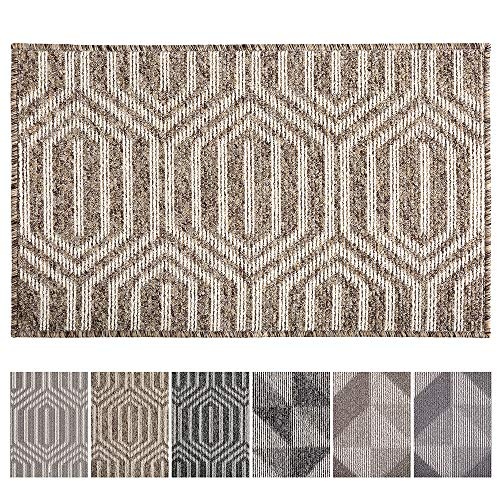 "Indoor Doormat 24""x 36"" Front Back Door Mat Rubber Backing Non Slip Door Mats Inside Floor Mud Dirt Trapper Mats Entrance Front Door Rug Shoes Mat Machine Washable Carpet (Camel:Time Cloister)"