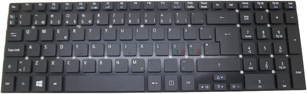 Laptop Keyboard for Acer Aspire 5830G 5830TG V3-531 V3-531G V3-551 V3-551G V3-571 V3-571G E5-771 ES1-512 ES1-731 ES1-731G Nordic NE