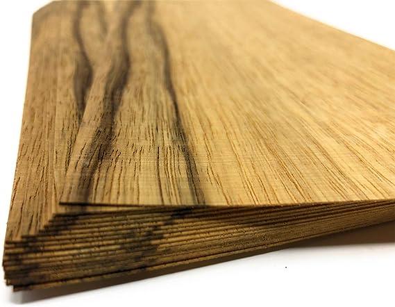 Heimwerken Ausbesserungsarbeiten Restauration Modelbau DIY Deko 1qm Holzfurniere = 17-28 Echtholz Platten Geschenk Fotografie Holz Set geeignet als Bastelholz Schmuck Balu