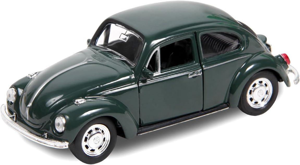 VW Beetle Modellauto 12 cm Käfer Modell 1:34 Bug Auto m Rückzug Welly 60er 70er