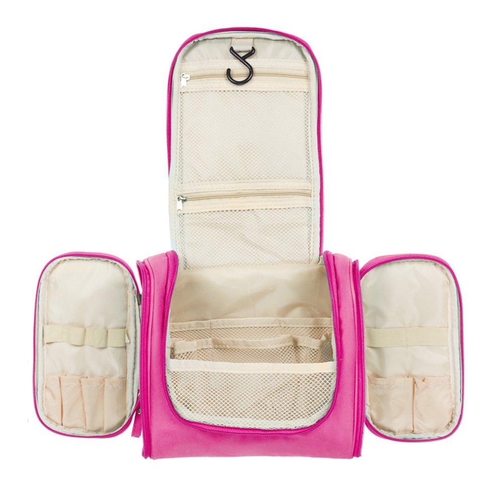 Aedo Beauty Case da Viaggio Donna Borsa da Toilette Borsetta da Viaggio Appendibile con Gancio Impermeabile Borsa per Cosmetici (Black)