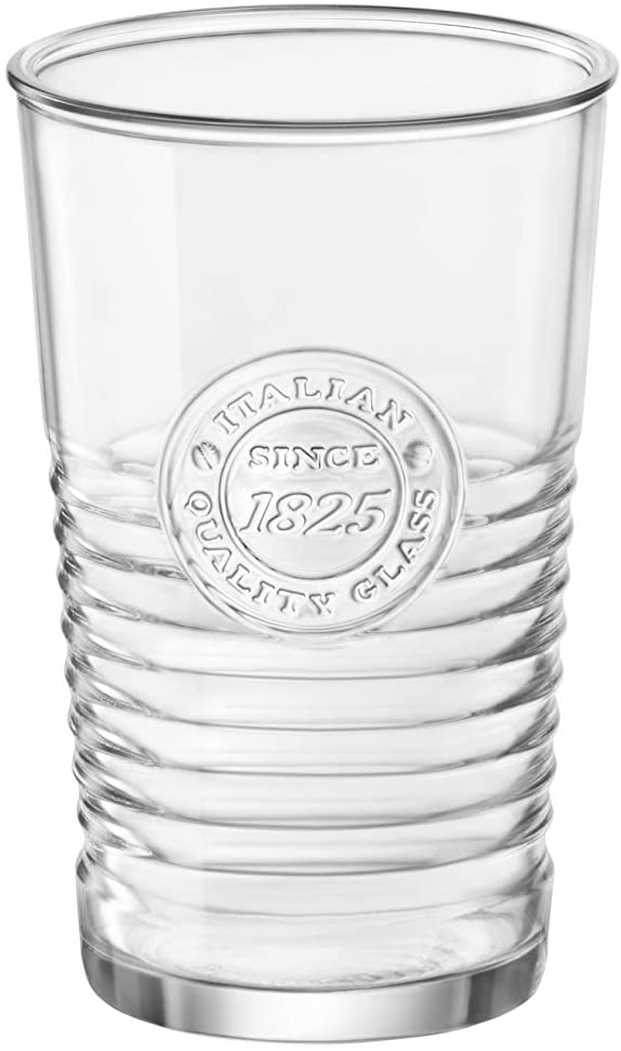 Bormioli Rocco Officina1825 Cooler Glass, Set of 4, 16 oz, Clear