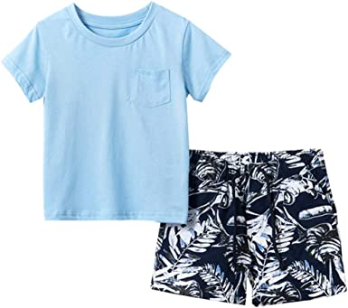 2PCS Toddler Kids Boys Summer clothes Short Sleeve T-Shirt Shorts Outfits Set