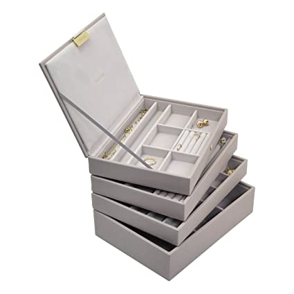 Stackers Taupe Classic Jewellery Box Set Of 4