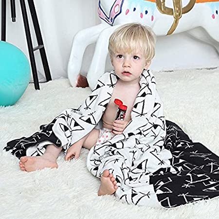 YJBear North Europe Style Thin Soft 100% Cotton Knit Blanket for Kids/Children/Toddler Cartoon Warm Sleeping Throw Blanket for Baby Boys and Girls, Pine Tree, 29.5 X 39.3 29.5 X 39.3