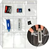 STORE SMART - Plastic Pages - Memory (SD) Cards and Flash Drives - Top Load with Flaps - for 3-Ring Binders - 10-Pack - RMSTWPF-MEMRY-10