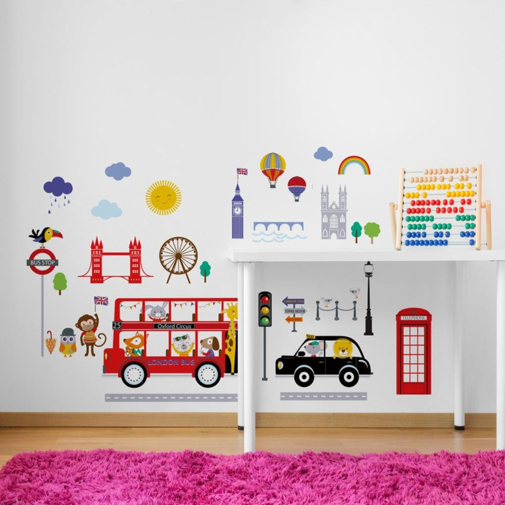Bus to London Baby/Nursery Wall Sticker Decals for Boys and Girls Cherry Creek Inc.