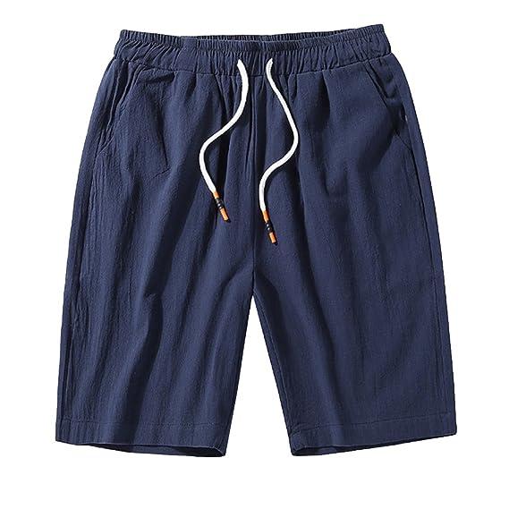 GladiolusA Cargo Bermudas Hombre Pantalones Cortos De Playa Deportivos Chinos Pantalon Lino Cintura Elástica Tamaño Grande fhIvUKt