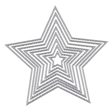 Gazechimp Molde de Plantilla de Troquelado de Corte de Metal para Tarjeta de Papel de Álbum Artesanía en Relieve de Bricolaje - Estrella: Amazon.es: Hogar