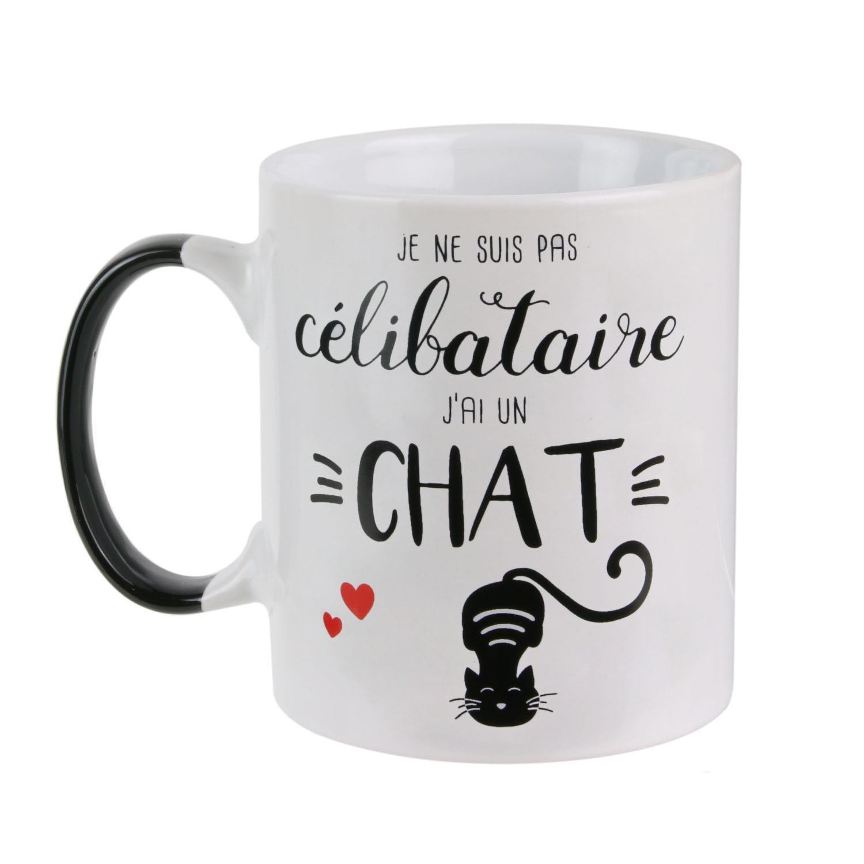 Série Suis CélibataireJ'ai Ne À Café Mon Et Ou Chat Un MoiTasse Mug ChatHumourje Pas Motif Thé Chat wmvn08NO