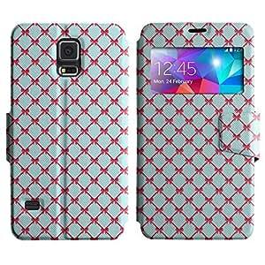 LEOCASE Cintas De Color Rosa Funda Carcasa Cuero Tapa Case Para Samsung Galaxy S5 I9600 No.1000576