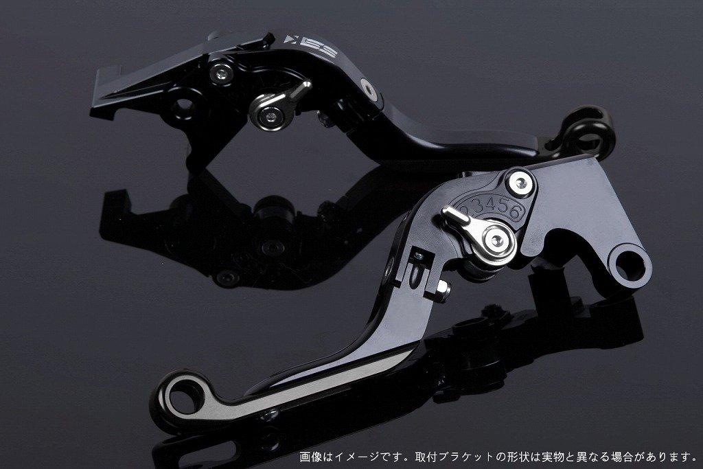 SSK アジャストレバー 可倒延長式 レバー本体カラー:ブラック アジャスターカラー:シルバー エクステンションカラー:ブラック TUONO V4R/Factory 2011-2016 AP0407116-SRBK B07MX7NH84
